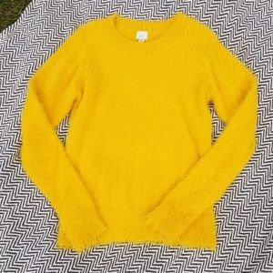 A New Day size medium mustard yellow sweater